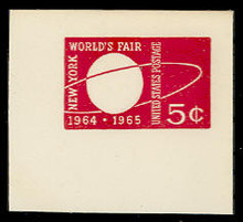 U546 5c World's Fair, Mint Full Corner