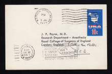 UX59 UPSS# S78 10c USA Map Postal Card, Used to England, Dear Dr.