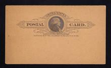 UX9a UPSS# S8b 1c Thomas Jefferson, Black on Dark Buff Mint Postal Card