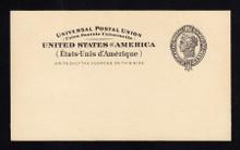 UX16 UPSS# S20a 2c Liberty Head, Missing Grommet Mint Postal Card