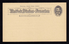UX10 UPSS# S10 1c Grant, Black on Buff Clean Face Postal Card