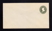 U400 UPSS# 1476-15A 1c Green on White, die 1, Mint Entire