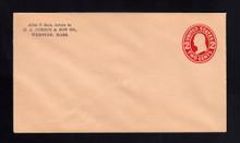 U413d UPSS# 1883a-17 2c Carmine on Oriental Buff, die 5, Mint Entire