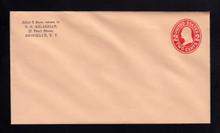 U413d UPSS# 1886-17 2c Carmine on O. Buff, die 5, Mint Entire, Stuck Flap