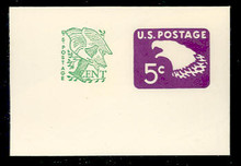 U553a 5c + 1c Purple Eagle, tagged, Mint Full Corner
