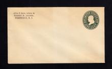 U400 UPSS# 1475-16 1c Green on White, die 1, Mint Entire, Toning