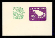 U553 5c + 1c Purple Eagle, Mint Full Corner