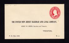 U411 UPSS# 1650-20 2c Carmine on White, die 1, Mint Entire, Printed Address