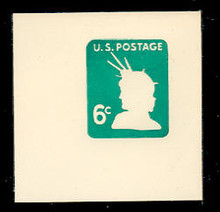 U551 6c Light Green Liberty Head, Mint Full Corner
