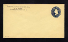 U419 UPSS# 2000-19 5c Blue on Amber, die 2, Mint Entire
