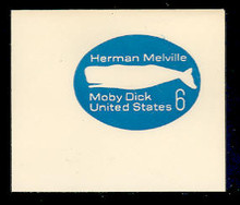 U554 6c Blue Moby Dick, Mint Full Corner