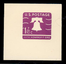 U556 1 7/10 Purple Liberty Bell, Mint Full Corner
