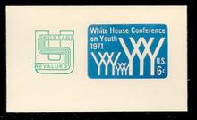 U562 6c + 2c Light Blue Youth, Mint Full Corner