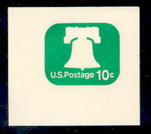 U567 10c Green Liberty Bell, Mint Full Corner