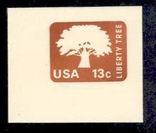 U576 13c Brown Liberty Tree, Mint Full Corner