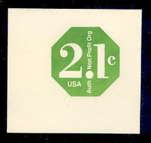 U578 2.1c Green Non Profit, Mint Full Corner