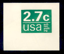 U579 2.7c Green Non Profit, Mint Full Corner