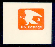 """U580 (15c) Orange """"A"""" Nondenominated, Mint Full Corner"""