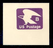 """U592 (18c) Violet """"B"""" Nondenominated, Mint Full Corner"""