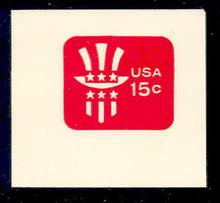 U581 15c Red Uncle Sam, Mint Full Corner