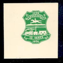 U582 13c Emerald 1876 Centennial, Mint Full Corner