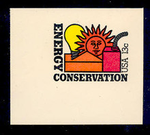 U584 13c Energy Conservation, Mint Full Corner
