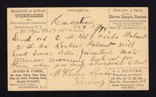 UX3 UPSS# S2 1c Postal Card - Haverstraw, NY MULTIPLE Advertising