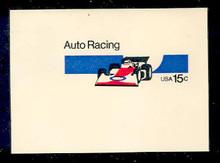 U587 15c Auto Racing, Mint Full Corner