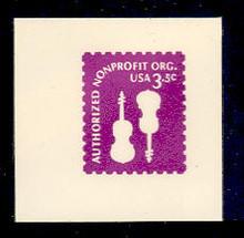 U590 3.5c Purple Non Profit, Mint Full Corner