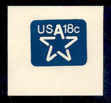 U593 18c Dark Blue Stylized Star, Mint Full Corner