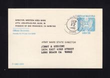 UZ3 UPSS# O3 14c Official Mail, Used Postal Card