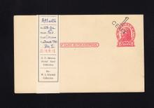 UX32 UPSS# S44-1, Atlanta Surcharge, Mint Postal Card, Surcharge on Angle
