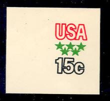 U596 15c Soccer, Mint Full Corner