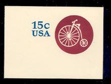 U597 15c Highwheeler Bicycle, Mint Full Corner