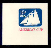 U598 15c America's Cup, Mint Full Corner