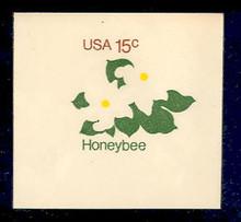U599 15c Honeybee, Mint Full Corner