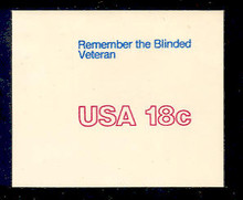U600 18c Blinded Veterans, Mint Full Corner