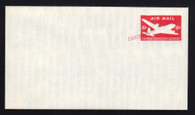 """Essay: UPSS # EAM10E-a """"US Air Mail Postage 6c"""" in blue Size 12, Die AM10 Type 1, """"Canceled"""""""
