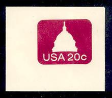U601 20c Capitol Dome, Mint Full Corner