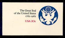 U602 20c Great Seal, Mint Full Corner