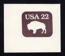 U608 22c American Buffalo, Mint Full Corner