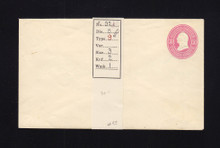 U34 UPSS # 71 3c Pink on White, Mint Entire