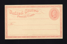 UPSS # S1E-Zd 1c Smooth Surface Essay, Light Red, Marks on Back