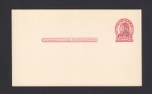 UX32 UPSS# S44-28, New York Surcharge, Mint Postal Card, Dark Shade