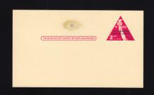 UX44 UPSS# S61 2c Mint Postal Card, Piece of Metal in Paper