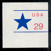 U623 29c Star, Mint Full Corner
