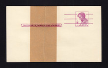UX48 UPSS# S66BPuv 4c Mint Postal Card, Type 1, Paste-up, Unlisted