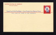 UY16a UPSS# MR26a 4c Statue of Liberfty, Message Card printed on both halves, FOLDED