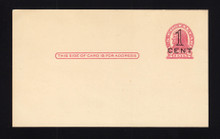 UX34 UPSS# S46-2, San Francisco Press Printed Surcharge, Mint, Light Toning on Back
