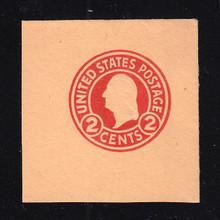 U431b 2c Carmine on Oriental Buff, die 4, Mint Cut Square, 47 x 47